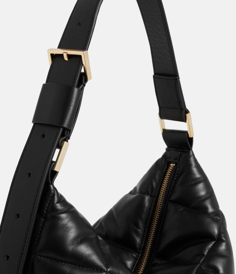 Women's Edbury Leather Quilted Shoulder Bag (black) - Image 5