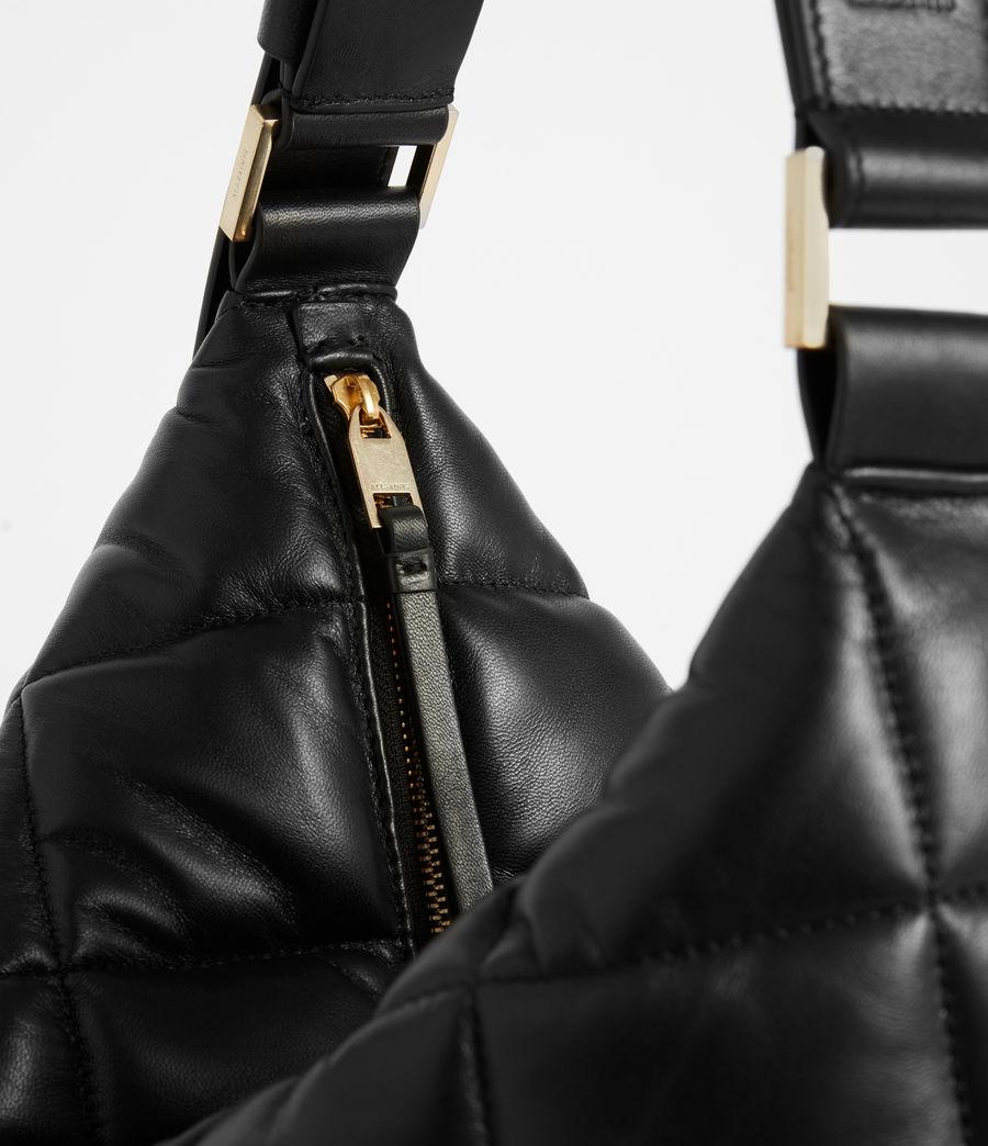 Women's Edbury Leather Quilted Shoulder Bag (black) - Image 6