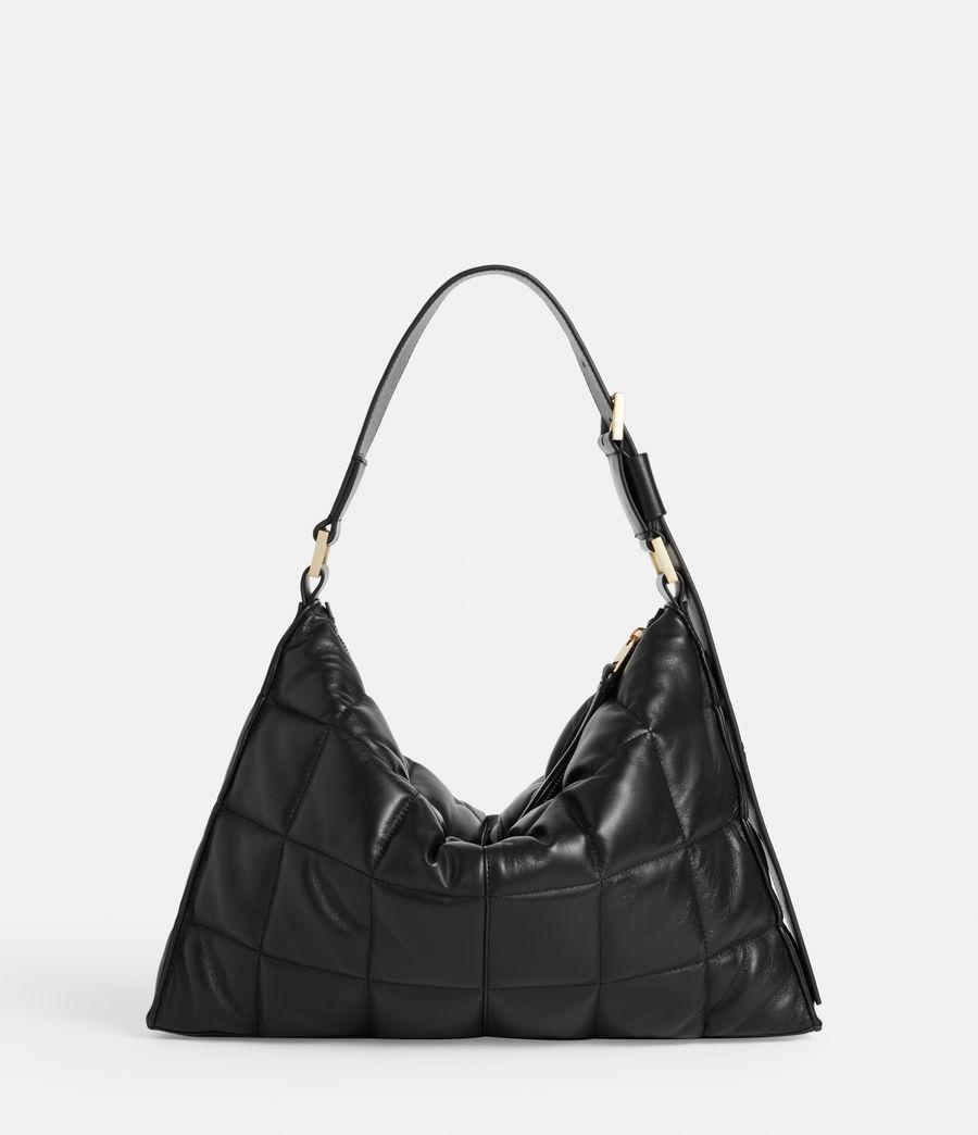 Women's Edbury Leather Quilted Shoulder Bag (black) - Image 7
