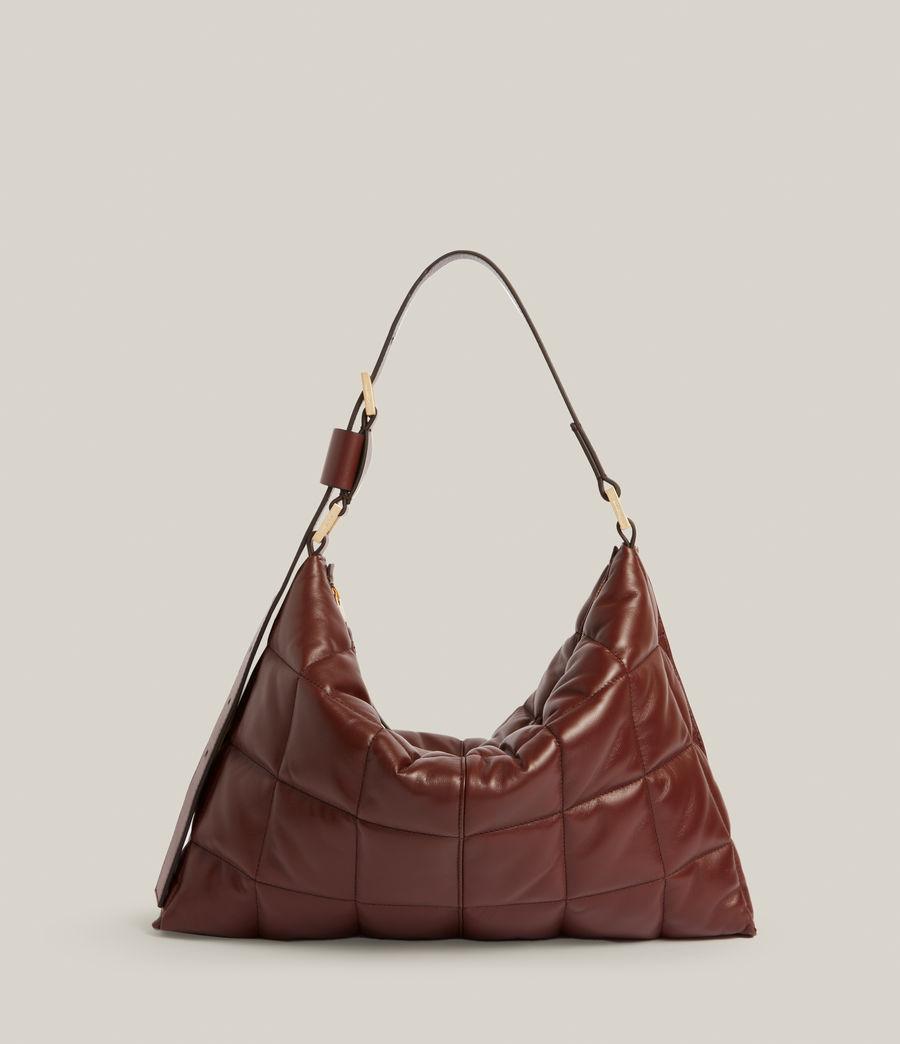 Women's Edbury Leather Quilted Shoulder Bag (oxblood_brown) - Image 2
