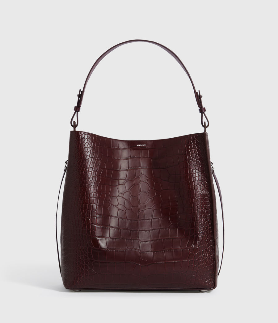 Mujer Bolso Tote de Piel Polly North South (bordeaux_red) - Image 1