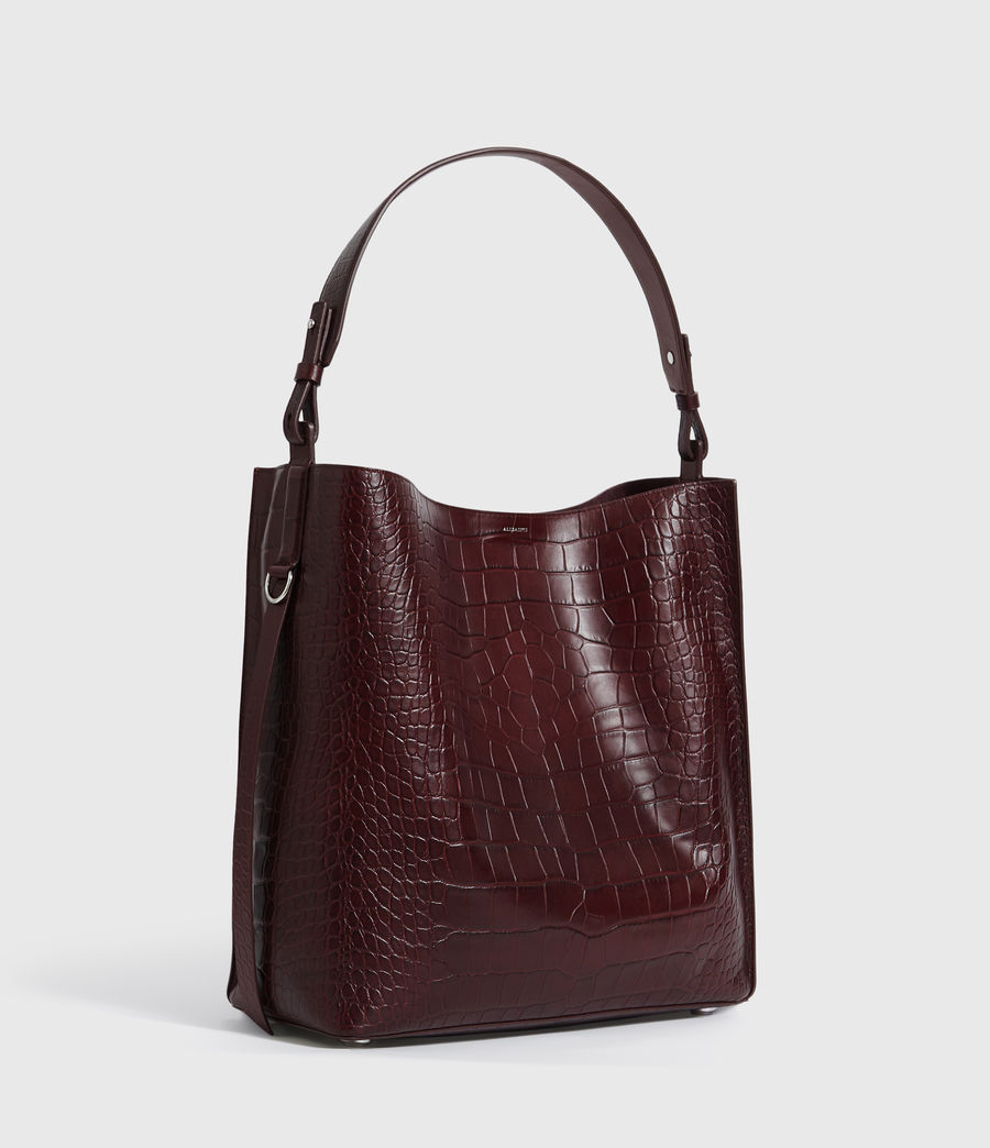 Mujer Bolso Tote de Piel Polly North South (bordeaux_red) - Image 3