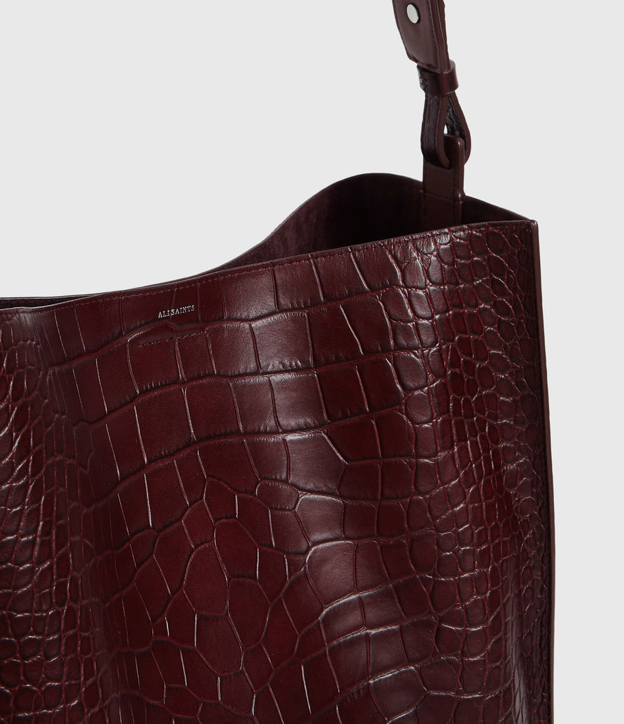 Mujer Bolso Tote de Piel Polly North South (bordeaux_red) - Image 4
