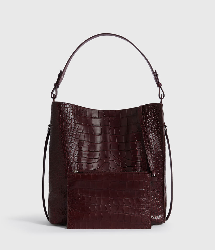 Mujer Bolso Tote de Piel Polly North South (bordeaux_red) - Image 6