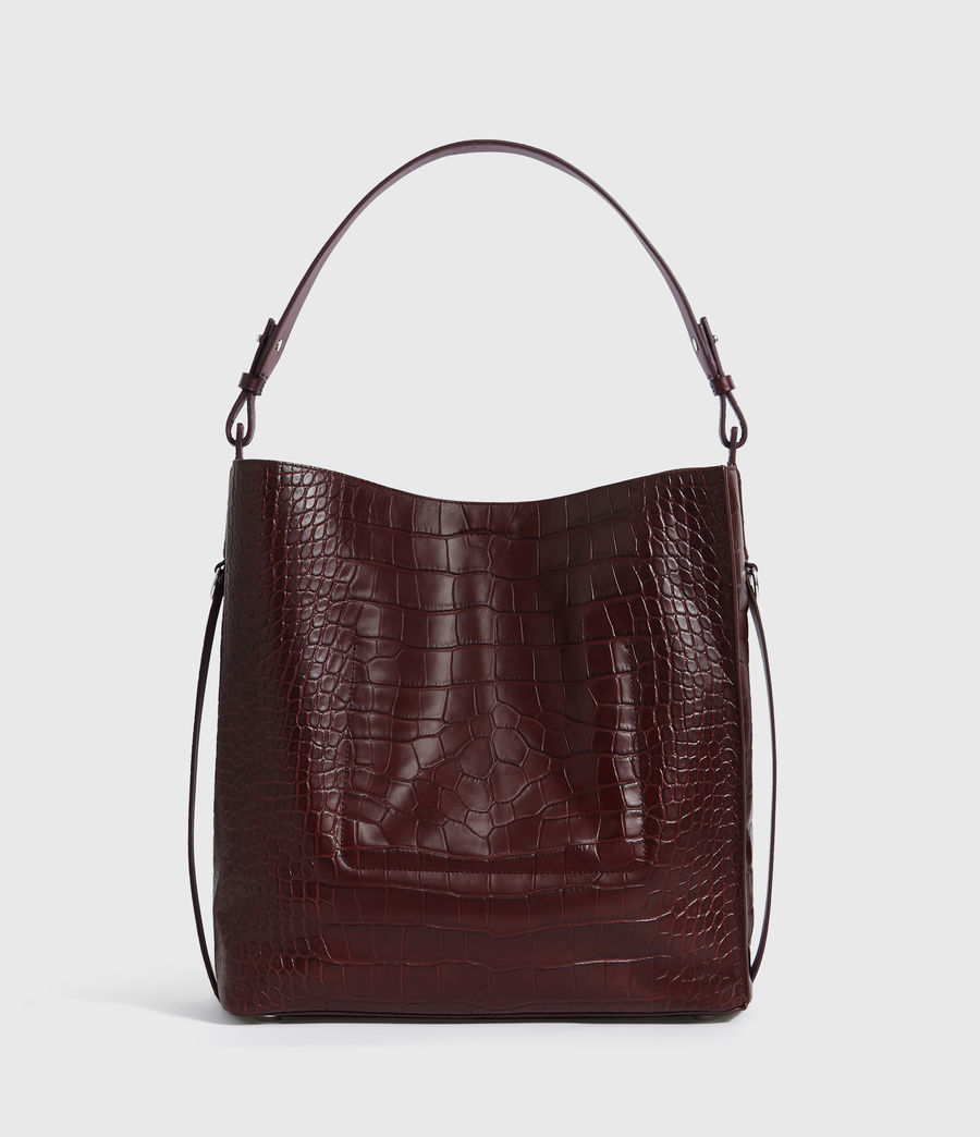 Mujer Bolso Tote de Piel Polly North South (bordeaux_red) - Image 8