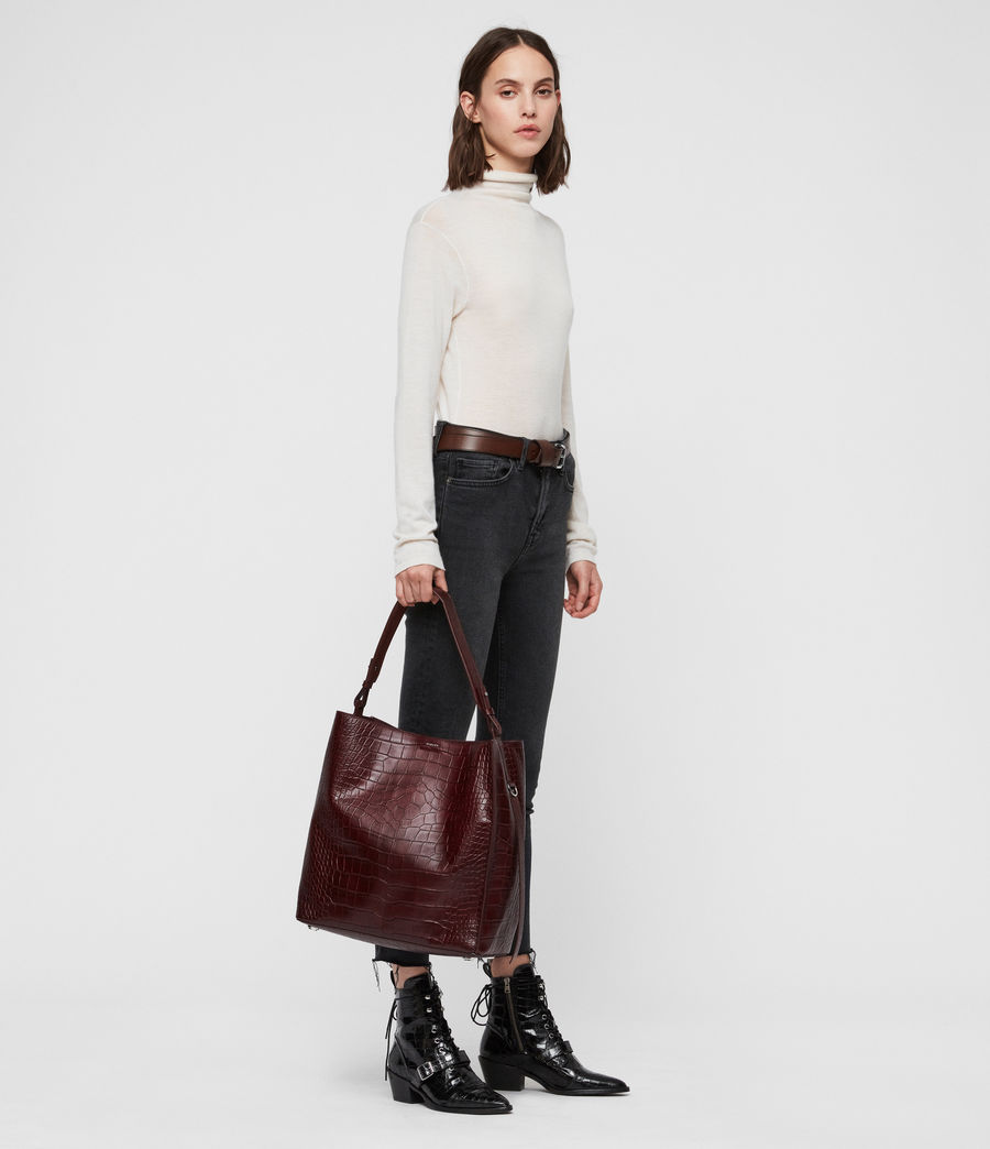 Womens Polly North South Tote Bag (bordeaux_red) - Image 9