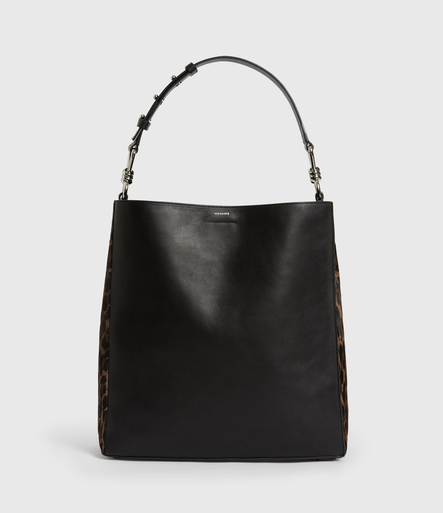 Womens Kim North South Leather Tote Bag (black) - Image 2