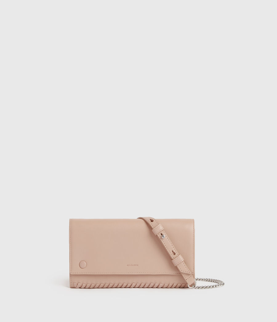 Women's Darlina Chain Leather Wallet (nude_pink) - Image 1