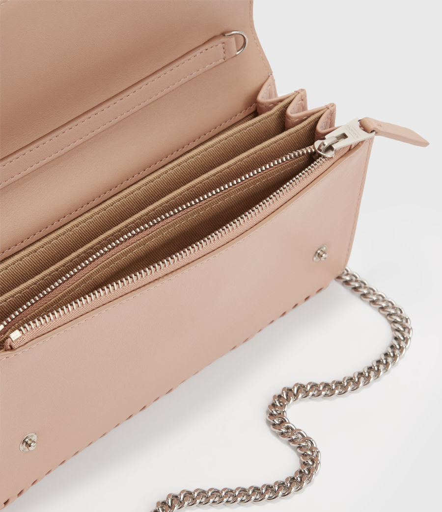 Women's Darlina Chain Leather Wallet (nude_pink) - Image 2
