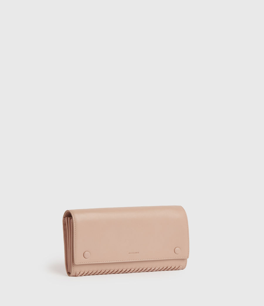 Women's Darlina Chain Leather Wallet (nude_pink) - Image 3