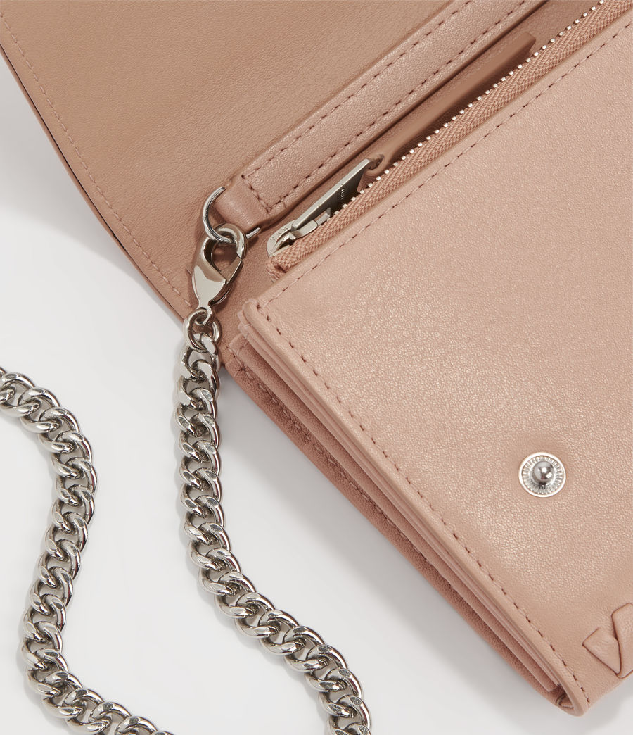 Women's Darlina Chain Leather Wallet (nude_pink) - Image 5