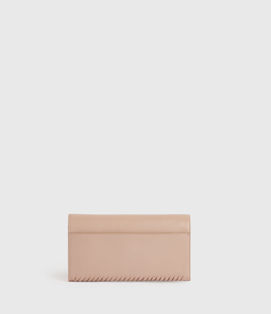 Women's Darlina Chain Leather Wallet (nude_pink) - Image 6