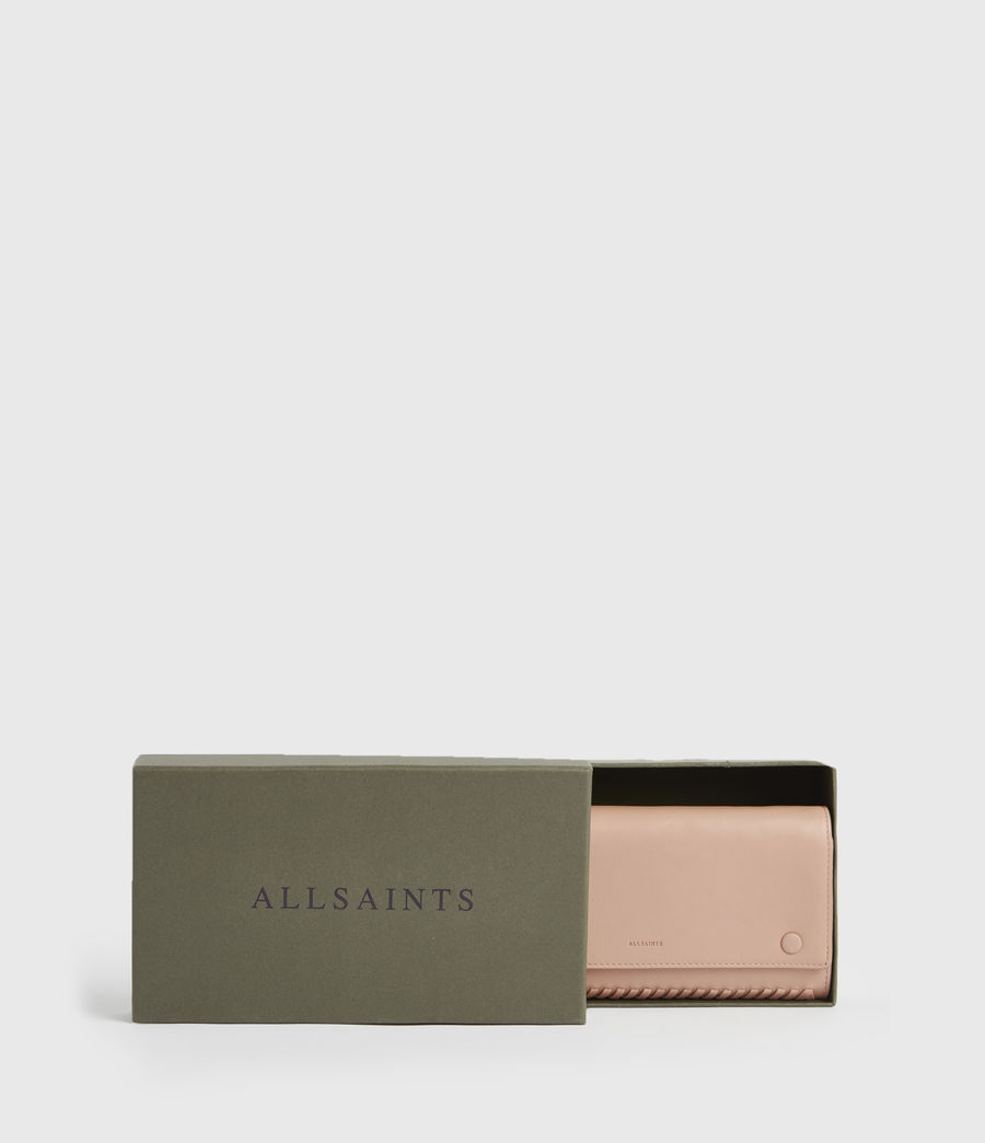 Women's Darlina Chain Leather Wallet (nude_pink) - Image 7