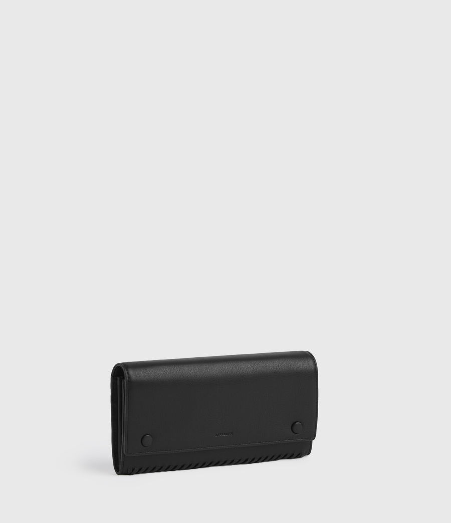 Women's Darlina Chain Leather Wallet (black) - Image 3