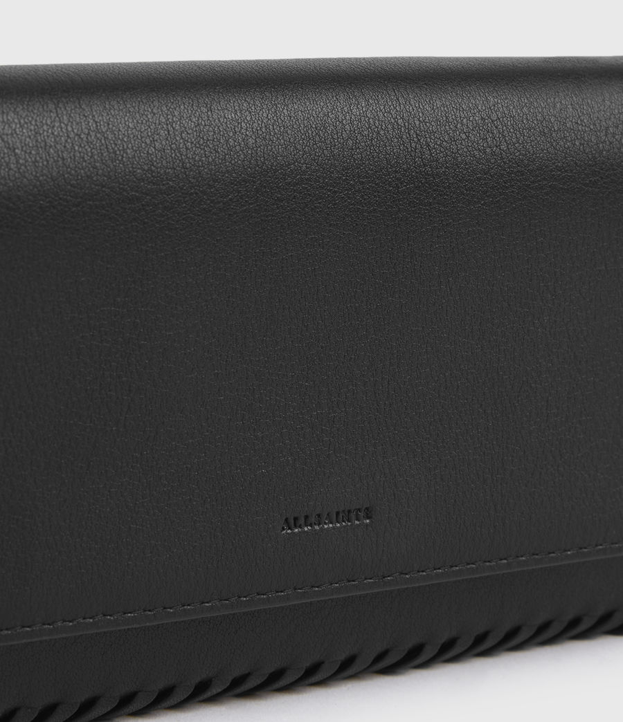 Women's Darlina Chain Leather Wallet (black) - Image 4
