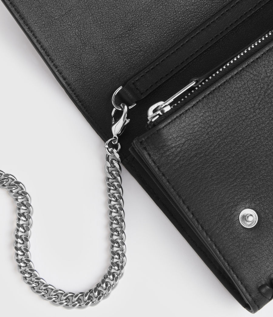 Women's Darlina Chain Leather Wallet (black) - Image 5