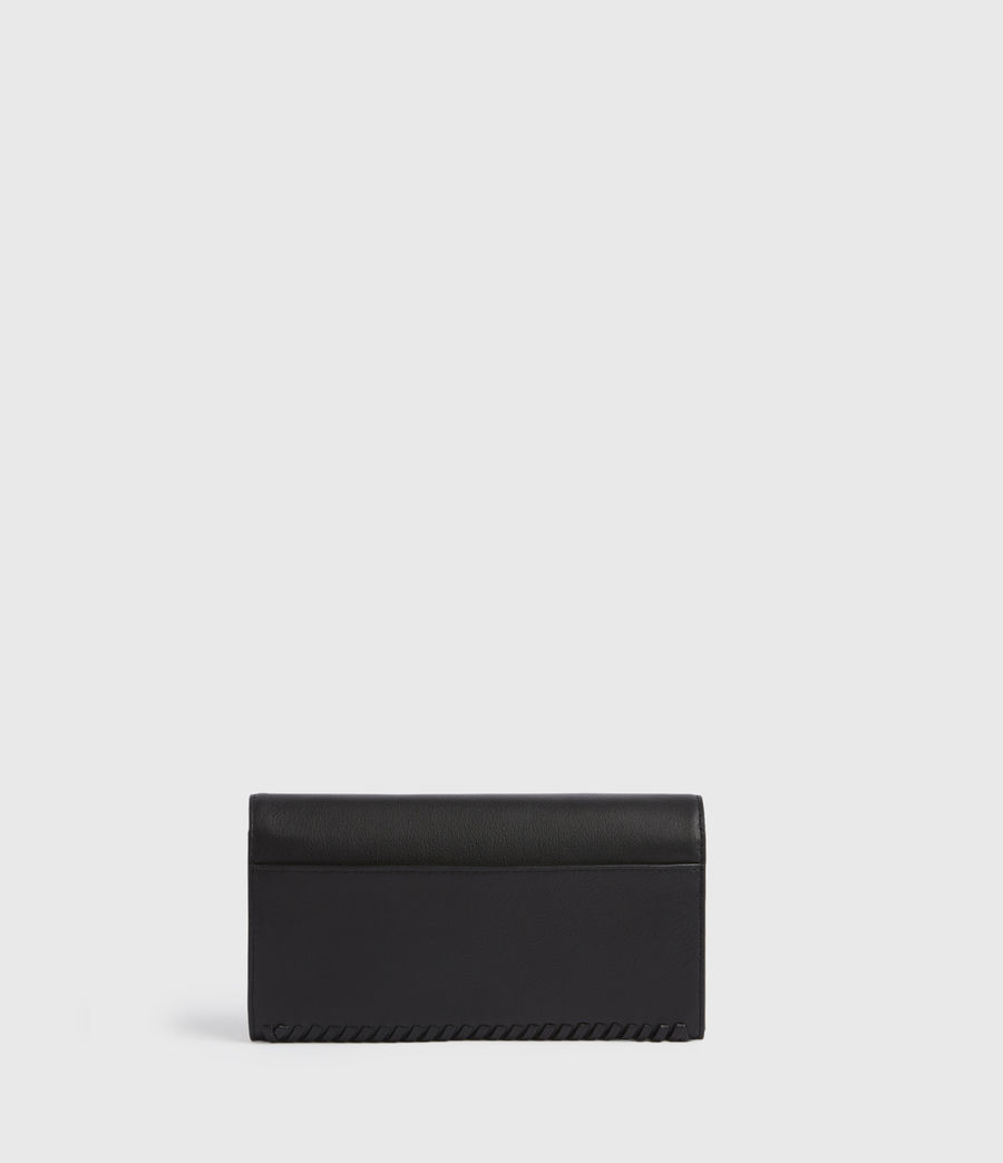 Women's Darlina Chain Leather Wallet (black) - Image 6