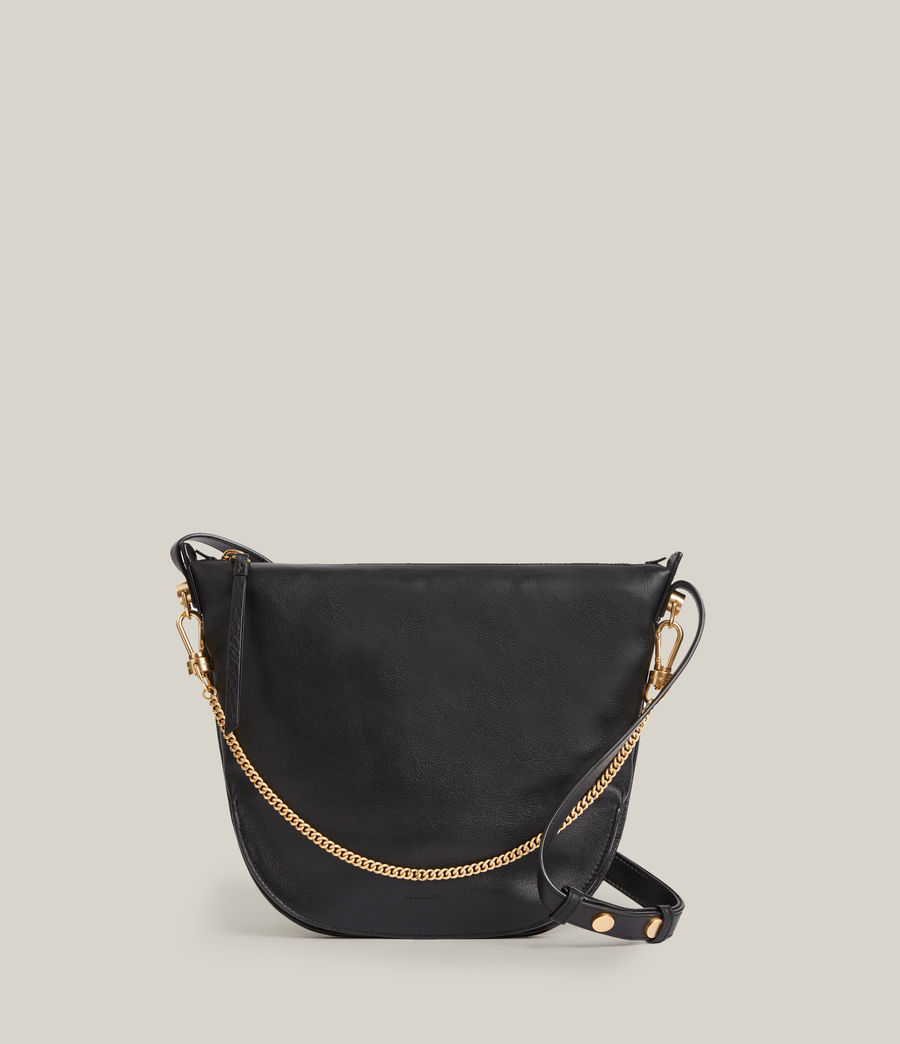 Womens Blake Leather Shoulder Bag (black) - Image 2