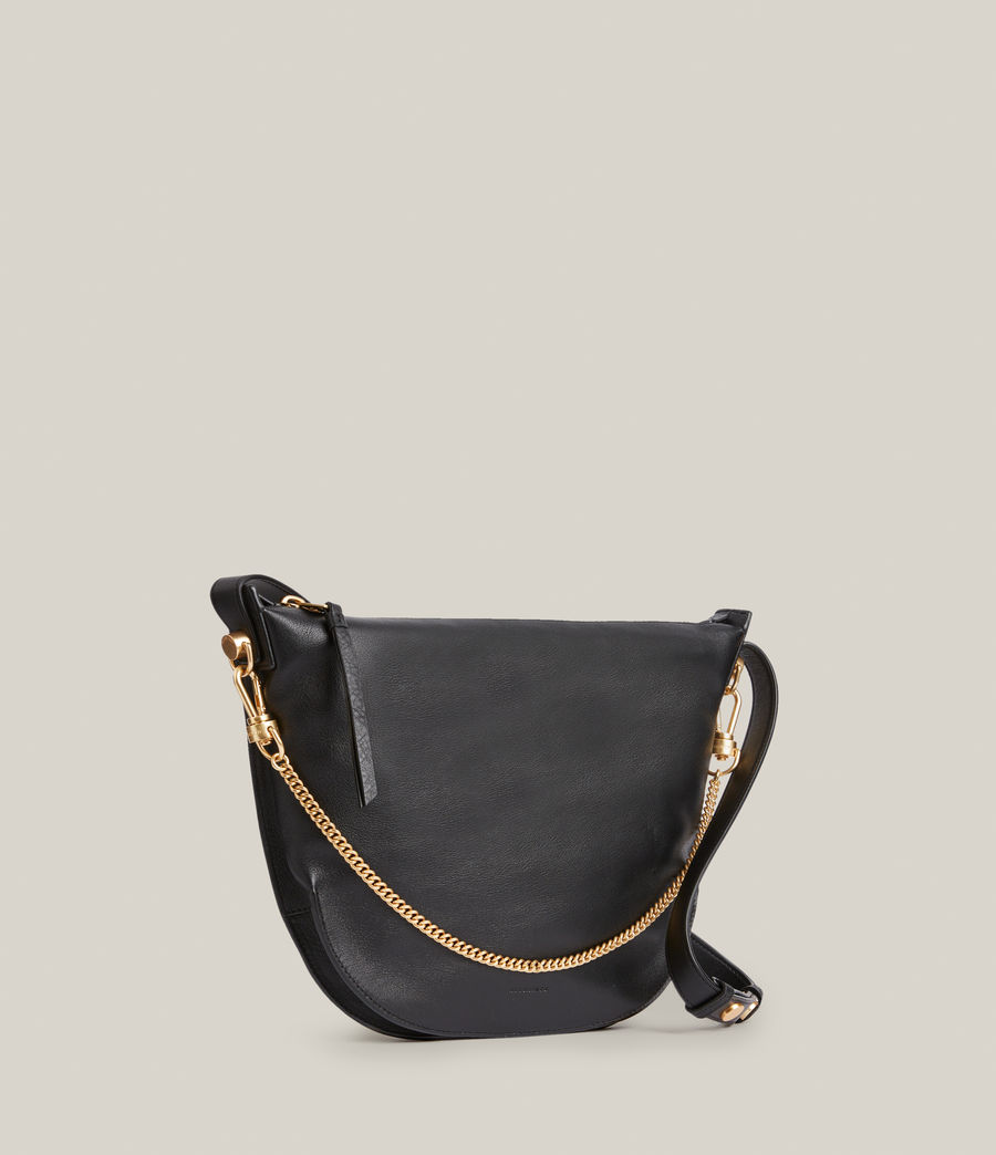 Womens Blake Leather Shoulder Bag (black) - Image 4