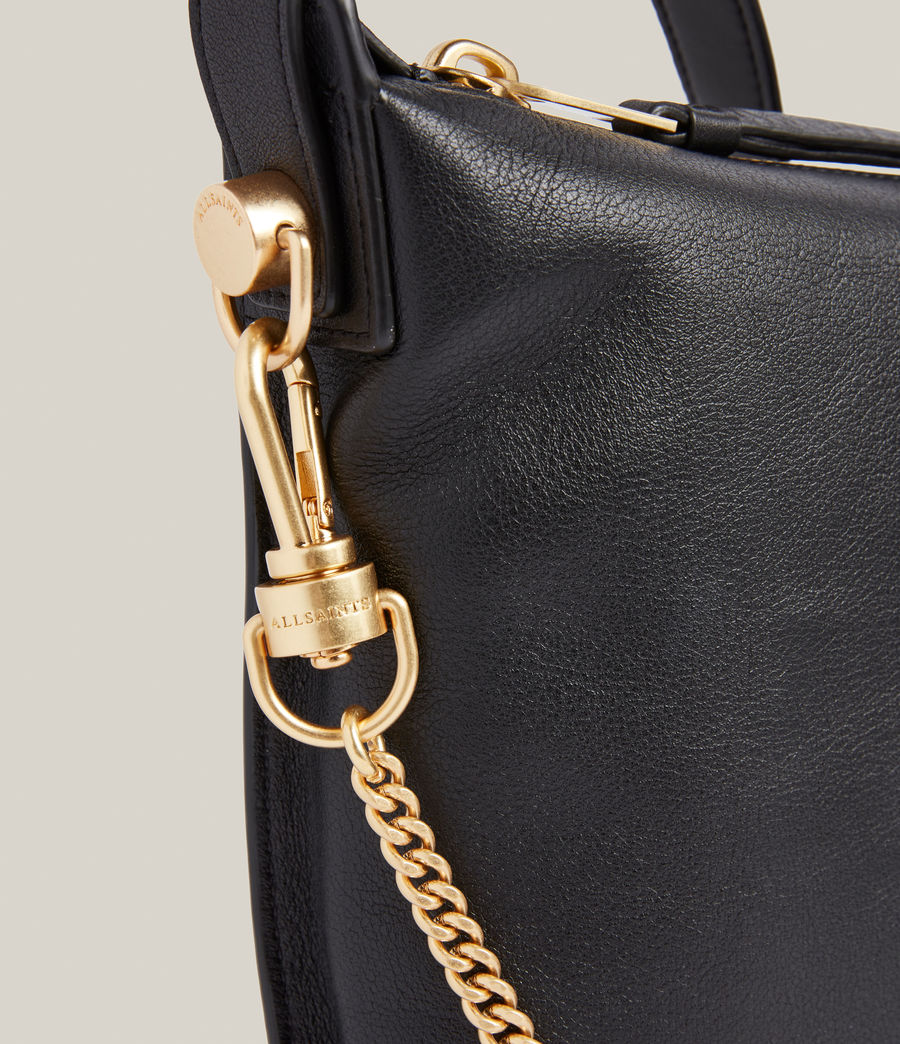 Womens Blake Leather Shoulder Bag (black) - Image 5