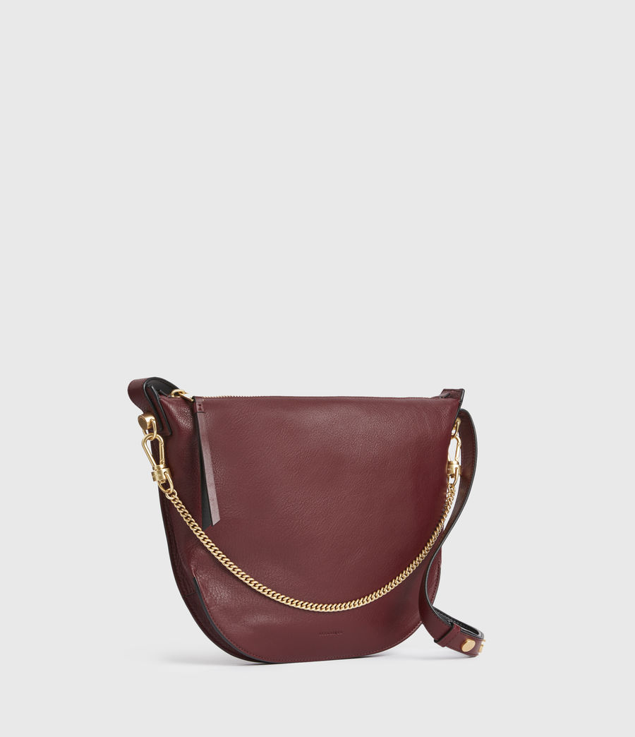 Womens Blake Leather Shoulder Bag (burnt_sienna_red) - Image 4