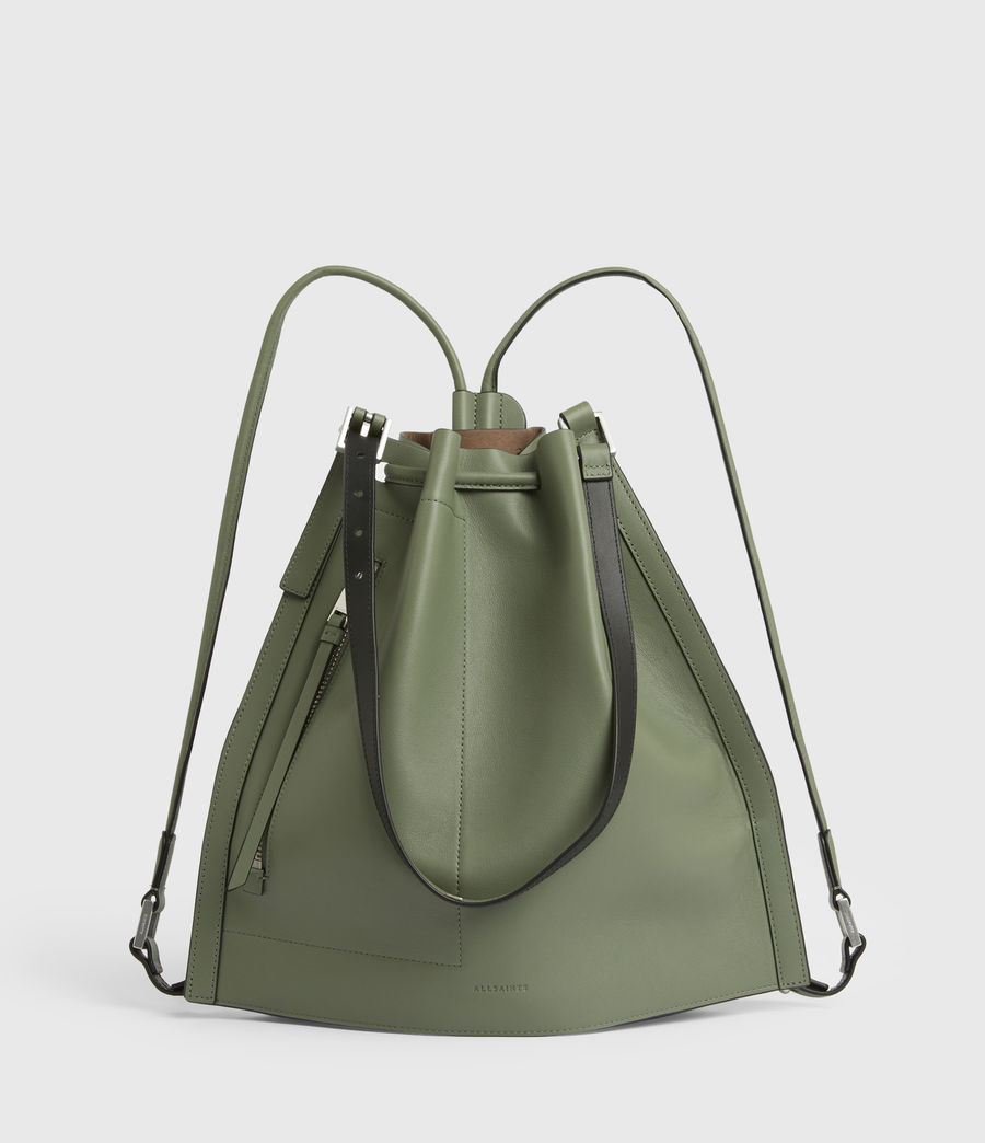 Women's Alpha Leather Backpack (sage_green) - Image 2