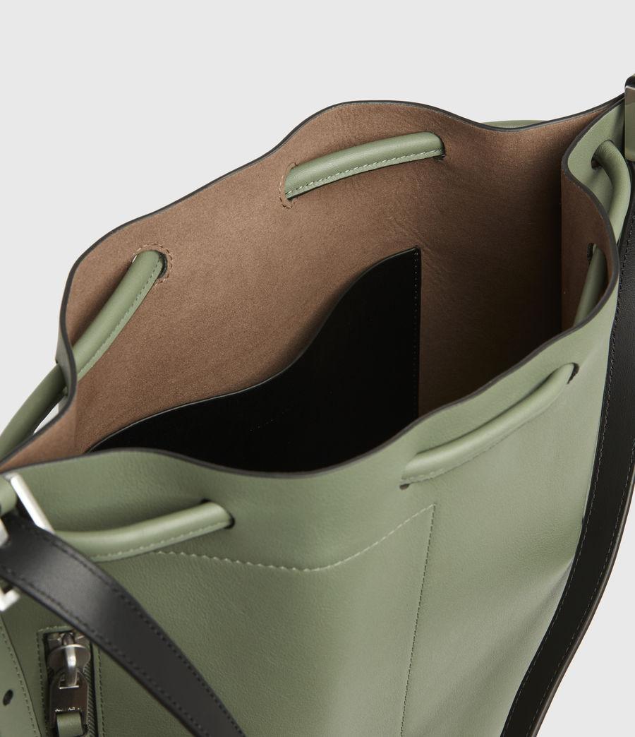 Women's Alpha Leather Backpack (sage_green) - Image 3