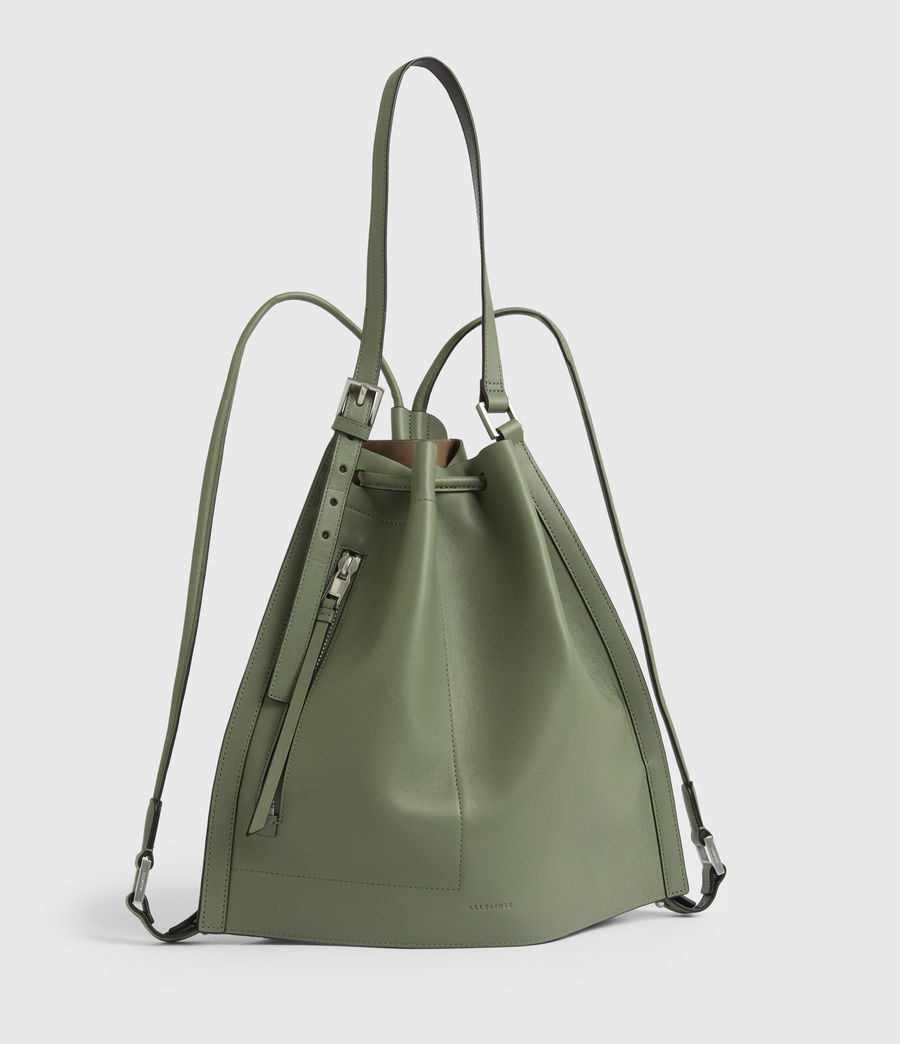 Women's Alpha Leather Backpack (sage_green) - Image 4