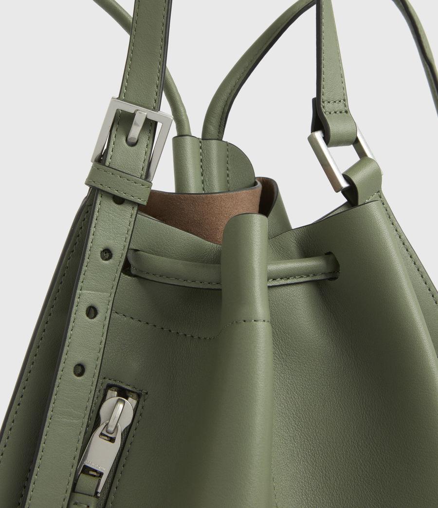 Women's Alpha Leather Backpack (sage_green) - Image 5