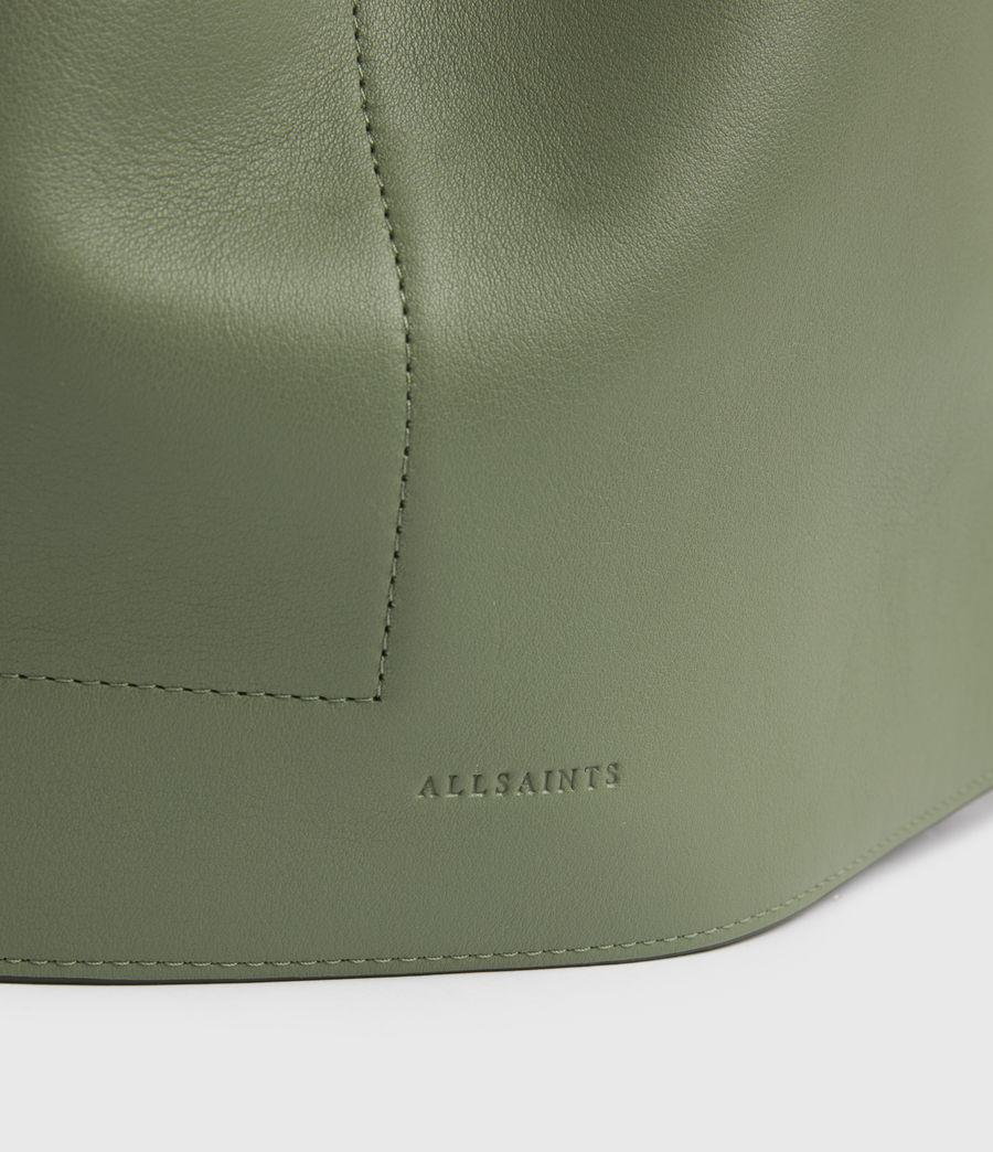 Women's Alpha Leather Backpack (sage_green) - Image 6
