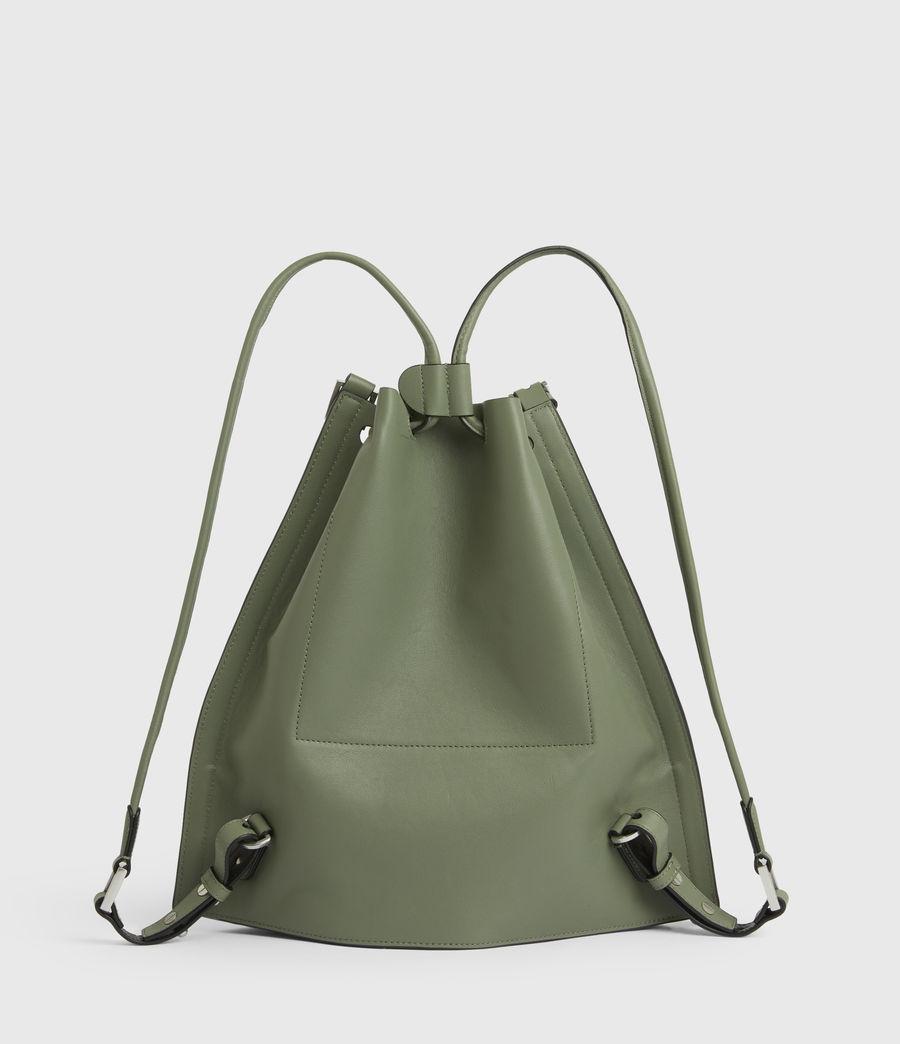 Women's Alpha Leather Backpack (sage_green) - Image 7