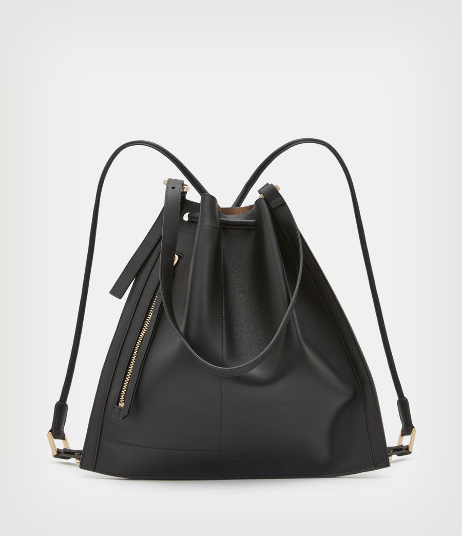 Womens Alpha Leather Backpack (black) - Image 2