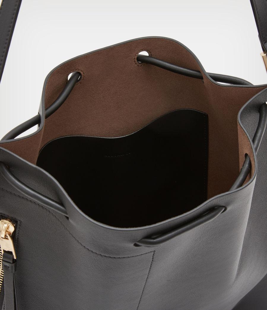 Womens Alpha Leather Backpack (black) - Image 3