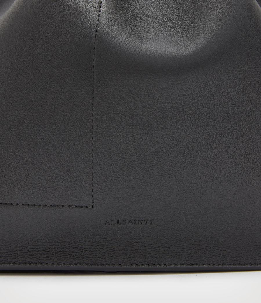 Women's Alpha Leather Backpack (black) - Image 7
