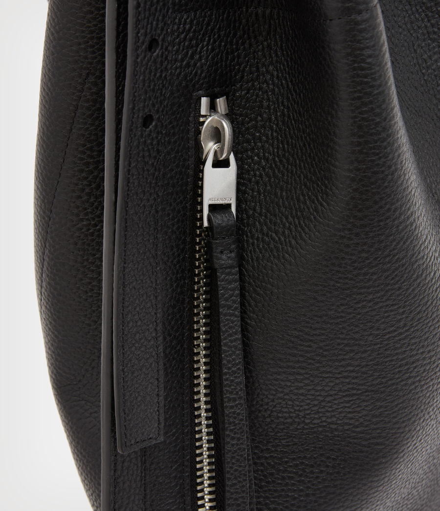 Women's Alpha Leather Backpack (black) - Image 8