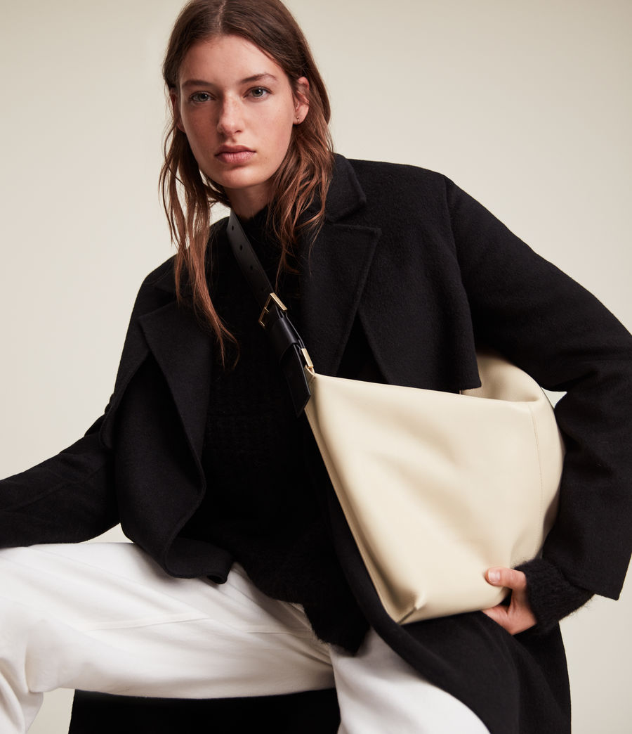 Femmes Edbury Leather Shoulder Bag (parchment_white) - Image 1
