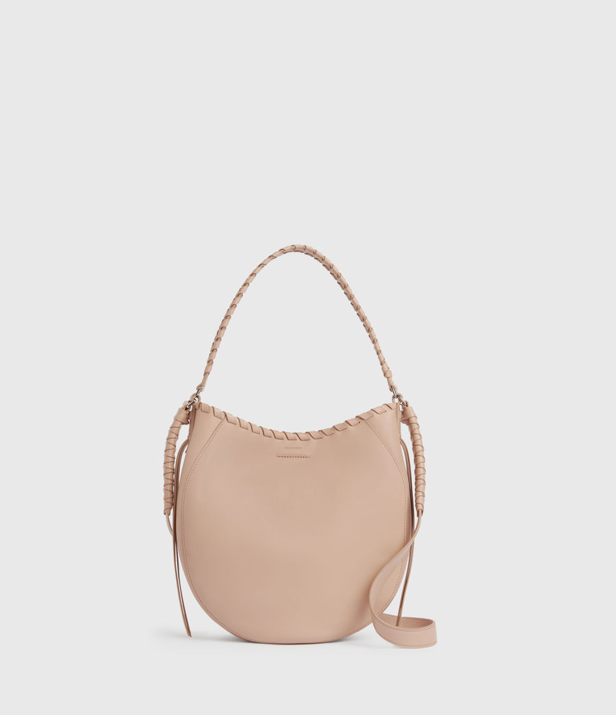 Womens Ada Leather Hobo Bag (nude_pink) - Image 1
