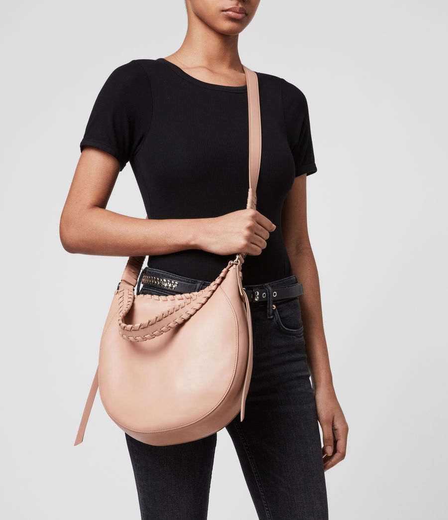 Womens Ada Leather Hobo Bag (nude_pink) - Image 2