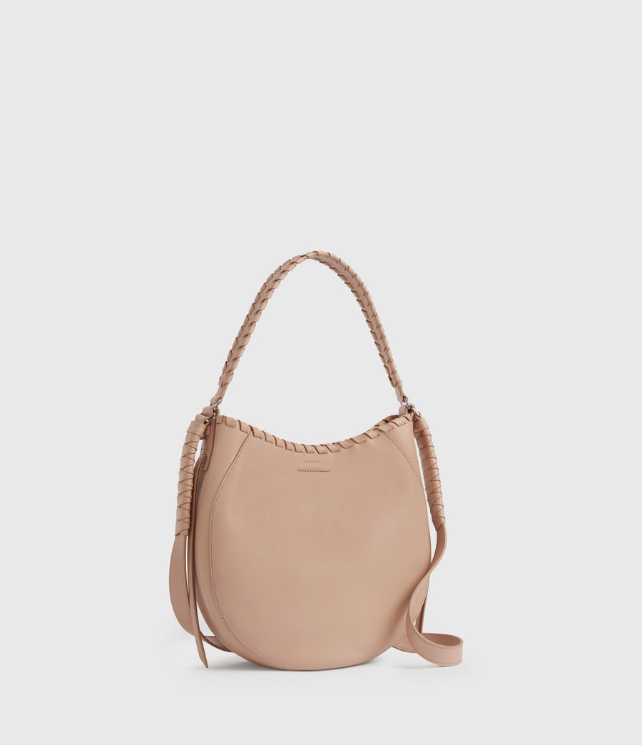 Womens Ada Leather Hobo Bag (nude_pink) - Image 3