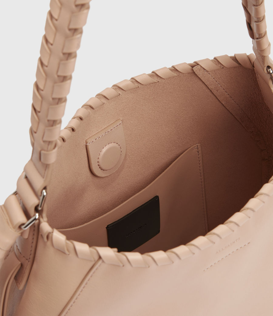 Womens Ada Leather Hobo Bag (nude_pink) - Image 4