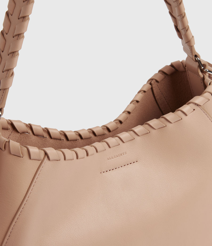 Womens Ada Leather Hobo Bag (nude_pink) - Image 5