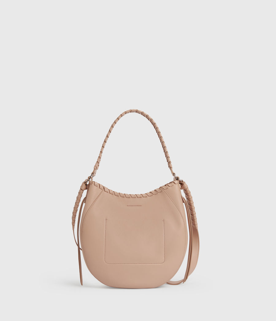 Womens Ada Leather Hobo Bag (nude_pink) - Image 6