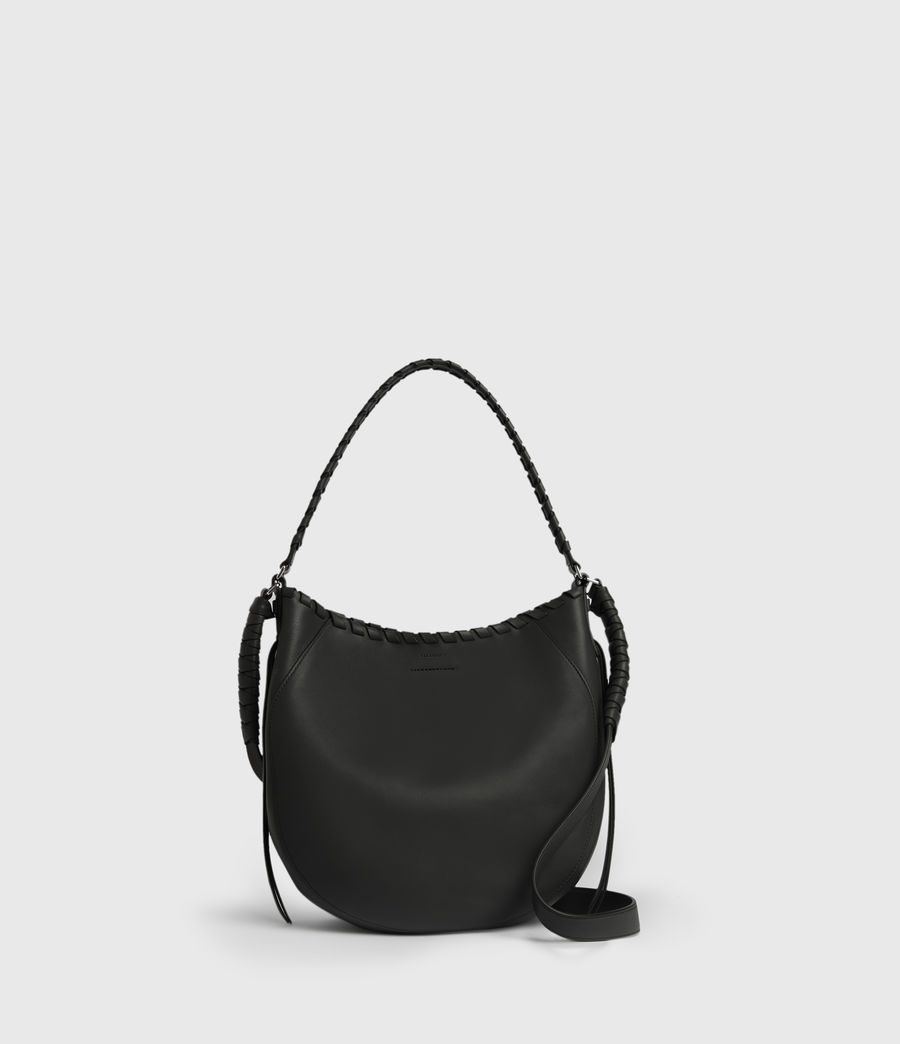 Womens Ada Leather Hobo Bag (black) - Image 1