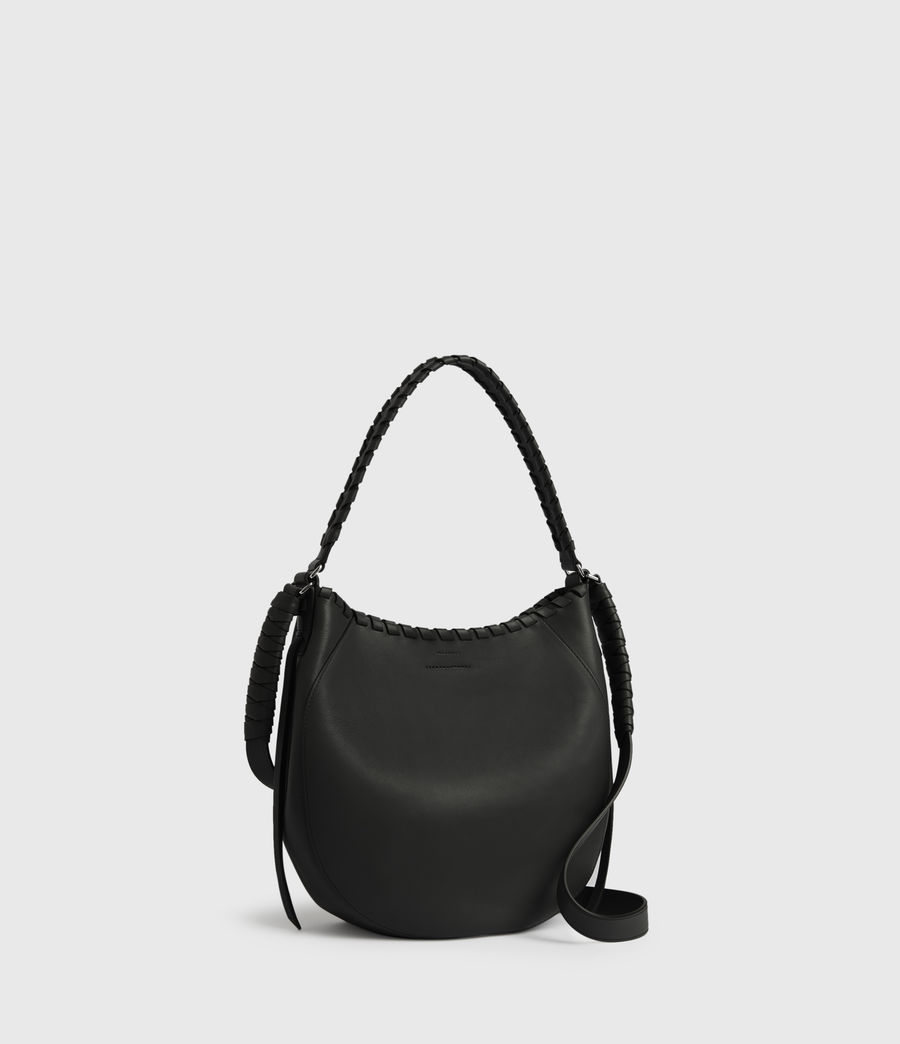 Womens Ada Leather Hobo Bag (black) - Image 3