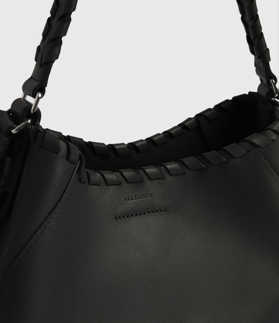Womens Ada Leather Hobo Bag (black) - Image 5