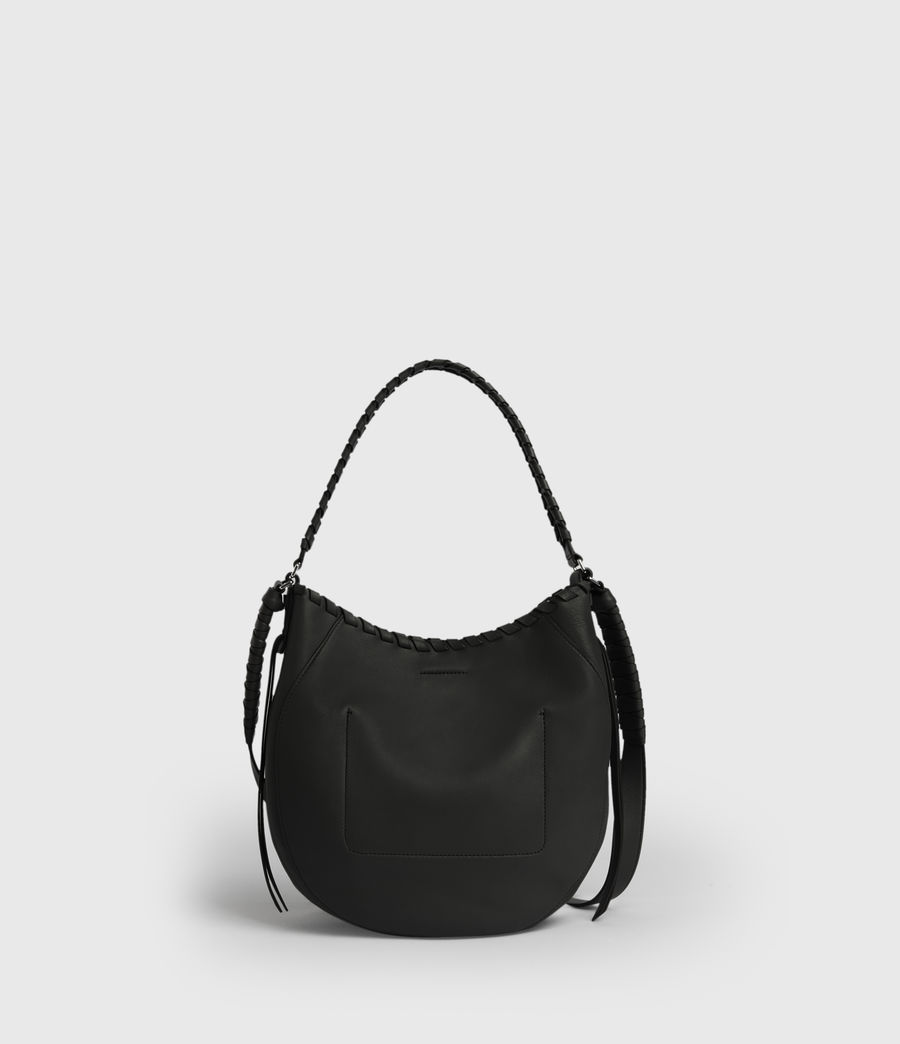 Womens Ada Leather Hobo Bag (black) - Image 7