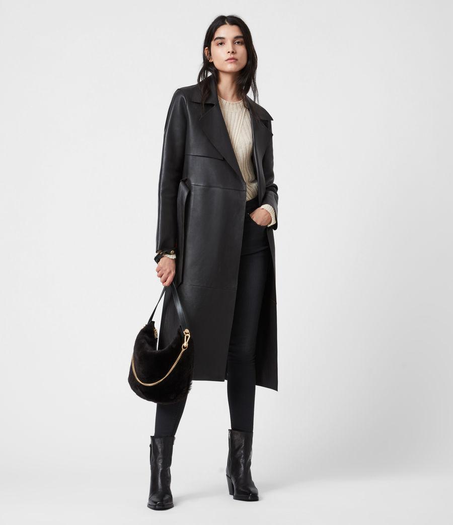 Womens Blake Pony Leather Shoulder Bag (peat_brown) - Image 1