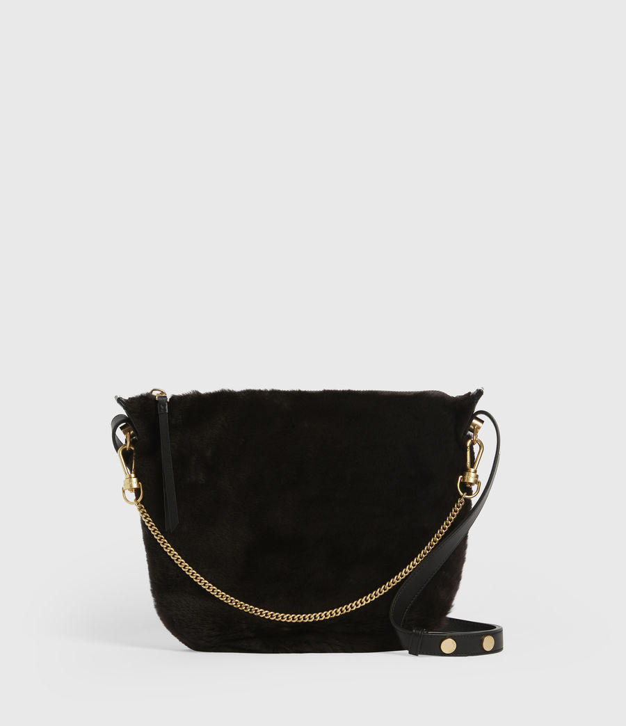Womens Blake Pony Leather Shoulder Bag (peat_brown) - Image 2