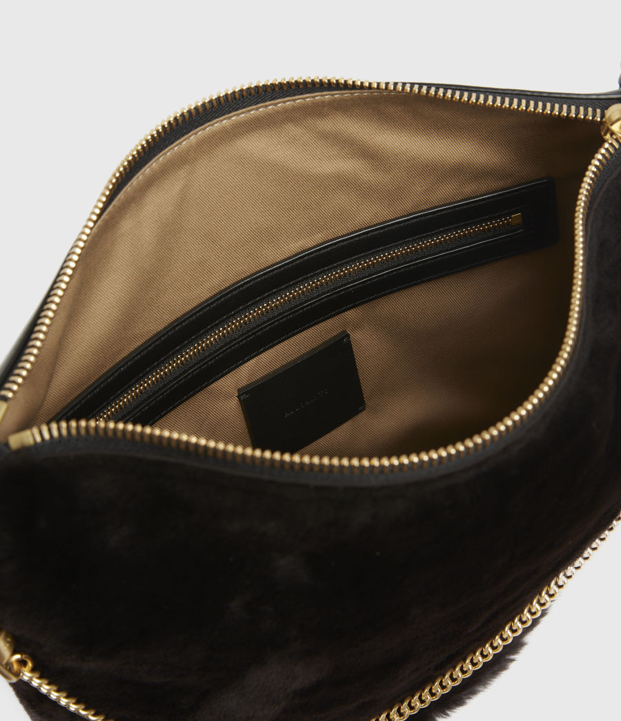 Womens Blake Leather Shoulder Bag (peat_brown) - Image 3