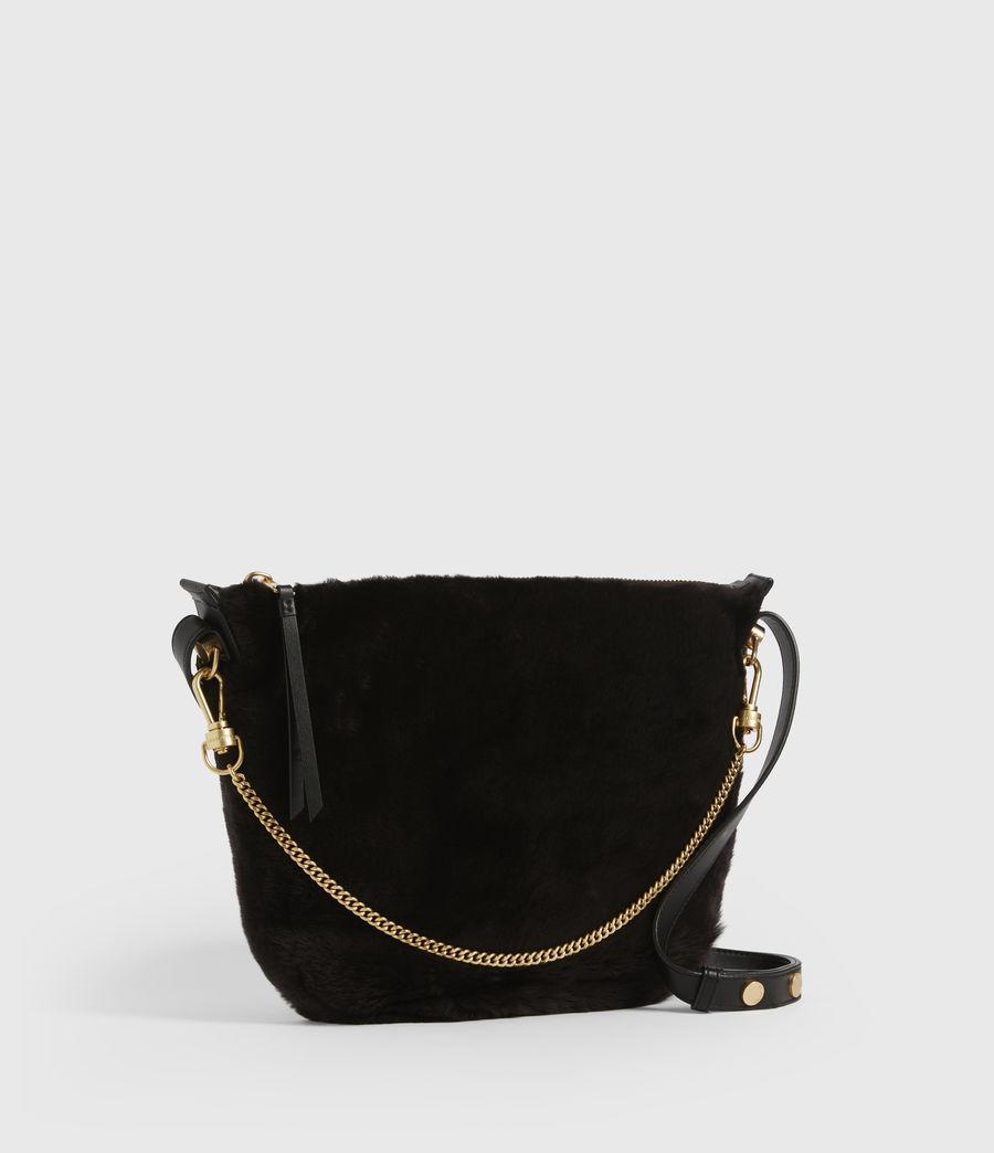 Womens Blake Pony Leather Shoulder Bag (peat_brown) - Image 4